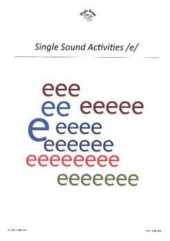 DHERCKM alphabet sounds /e/