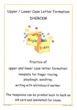 DHERCKM Letter Formation Cards