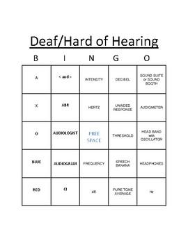 DHH BINGO - AUDIOGRAM