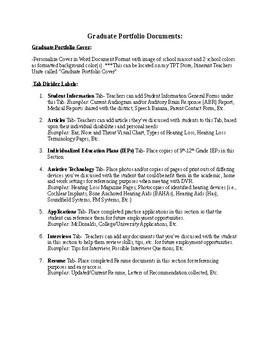 DHH Graduate Portfolio Documents List
