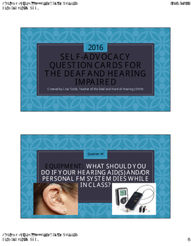DHH Self-Advocacy Equipment Question Cards