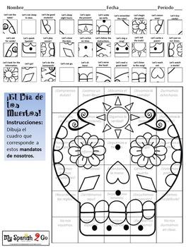DIA DE LOS MUERTOS: Draw the Square in the Grid for NOSOTROS COMMANDS-Fun!