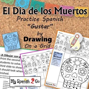 DIA DE LOS MUERTOS: Draw the Square in the Grid for transl