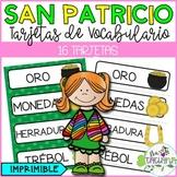 DÍA DE SAN PATRICIO TARJETAS DE VOCABULARIO/ ST PATRICK'S DAY WORD WALL