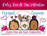 DIA DE SAN VALENTIN CORONAS/ SOMBREROS / ESPAÑOL /VALENTIN