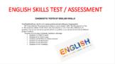 DIAGNOSTIC TESTS OF ENGLISH SKILLS