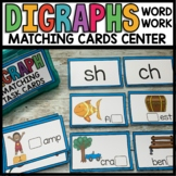 DIGRAPH Center Cards (ch, ph, sh, th, wh) | H Brother Cards