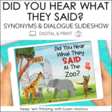 DIALOGUE AND SYNONYMS FOR SAID SLIDESHOW