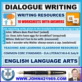 DIALOGUE WRITING - 10 WORKSHEETS WITH ANSWERS