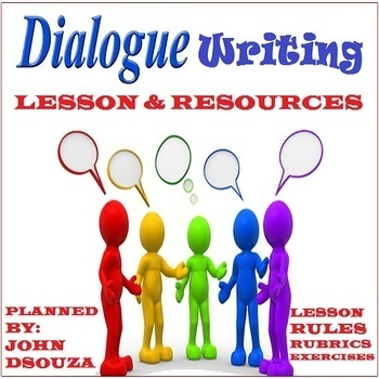 DIALOGUE WRITING: LESSON & RESOURCES