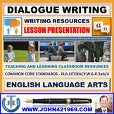 DIALOGUE WRITING : READY TO USE LESSON PRESENTATION