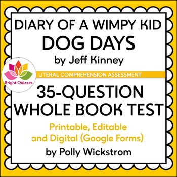 DIARY OF A WIMPY KID   BOOK 04   WHOLE BOOK TEST   PRINTABLE, EDITABLE, DIGITAL