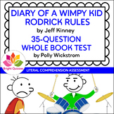 DIARY OF A WIMPY KID: RODRICK RULES | PRINTABLE TEST | 35