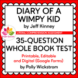 DIARY OF A WIMPY KID | WHOLE BOOK TEST | PRINTABLE, EDITAB