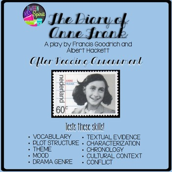 DIARY OF ANNE FRANK Play (Acts I and II) Multiple Choice Test