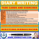 DIARY WRITING TASK CARDS