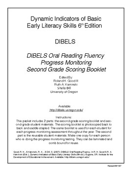 DIBELS 2nd Grade Oral ReadingFluency Passages/Probes