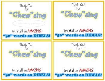 DIBELS Award: Retell 50 Words!