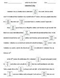 DIBELS - DAZE practice Sheet (Valentine's Day/Presidents Day)