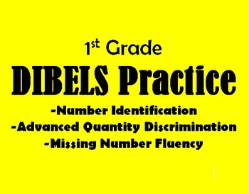 DIBELS Math Practice Packet - 1st Grade