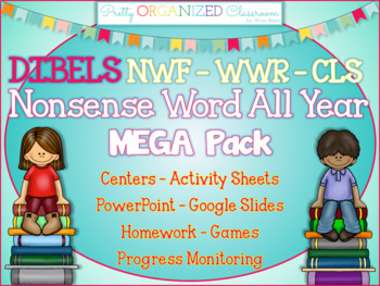 DIBELS Practice RTI Mega Pack CLS NWF WWR with Progress Monitoring - 1000+ pgs!