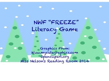 "DIBELS NWF, Nonsense Word ""Freeze"" Game"