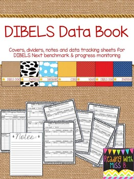DIBELS Next Data Book - Covers, Dividers, Notes & Data Pages (Western Theme)