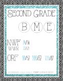 DIBELS Next Glitter Posters-Second Grade