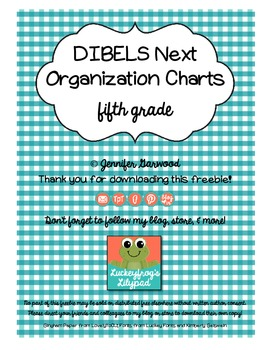 DIBELS Next Organization Charts for 5th Grade