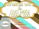 DIBELS Nonsense (NWF) and CVC Word Sort- Cookies!