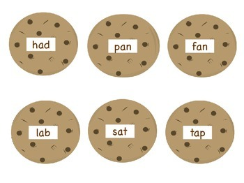DIBELS Nonsense (NWF) and CVC Word Sort- Cookies!