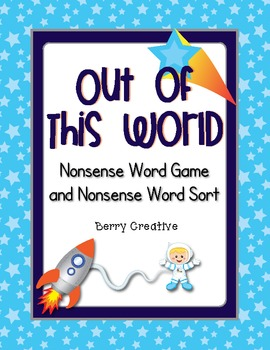 DIBELS Nonsense Word Game ~ Space Theme