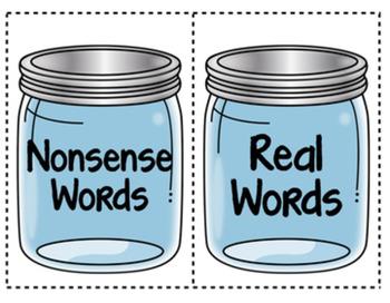 "DIBELS Nonsense Word Sort (NWF) ""Candy Sort"""