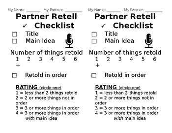 DIBELS Partner Retell Checklist