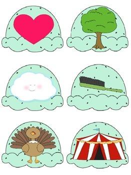 DIBELS Phoneme Segmentation (PSF) Ice Cream Theme