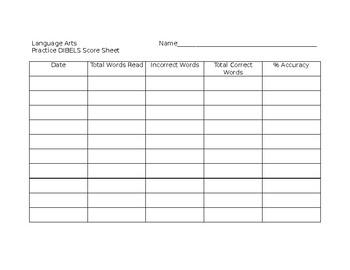 DIBELS Practice Recording Chart