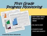 DIBELS Progress Monitoring Graphs for First Grade