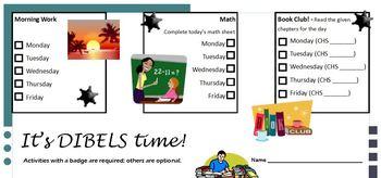DIBELS & TRC Task Card
