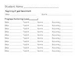DIBELS assessment form