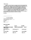 DIBELS progress monitoring note home (EDITABLE)