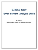 DIBELS Next Error Analysis Guide