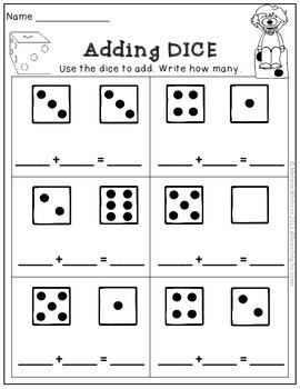DICE Addition and Subtraction