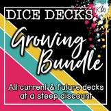 DICE DECKS Speech Therapy Games - BUNDLE of 35 Decks!