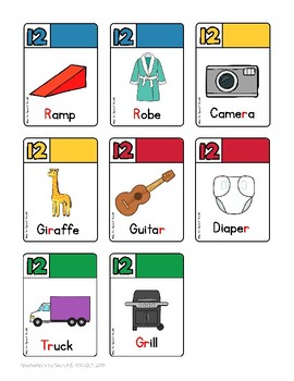 DICE-O Articulation Card/Dice Game for Speech Therapy -- /r/ and /r/-blends