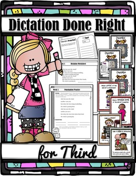 DICTATION DONE RIGHT for THIRD (Homeschool Edition with Sc