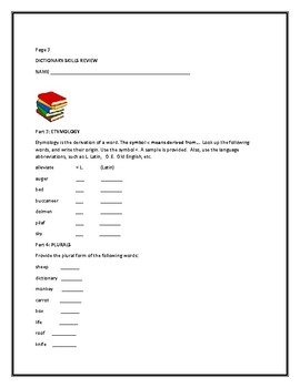 DICTIONARY SKILLS REVIEW PROJECT