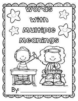 WORDS with MULTIPLE MEANINGS  Dictionary Skills