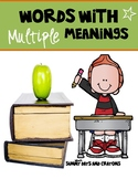 DISTANCE LEARNING / HOMESCHOOLING WORDS with MULTIPLE MEANINGS