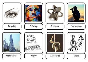 DIFFERENT ARTS Sorting / Classifying Activity