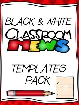 DIFFERENTIATED CLASSROOM NEWS WRITING STATIONARY--Grades: K-1st-2nd-3rd-4th-5th